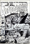 Original Comic Art:Covers, Russ Heath - Original Cover Art for Astonishing #8 (Atlas, 1952).This explicitly violent cover is an excellent example of w...