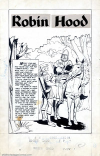 Jack Sparling - Original Art for Classics Illustrated #7, page 1 (Gilberton,1956 ). The gentleman outlaw, Robin Hood, ha...