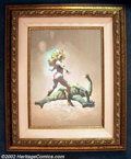 """Original Comic Art:Paintings, Frank Frazetta - Original Oil Painting, """"The Countess and the Green Man"""" (1989). Originally painted as a paperback cover for..."""
