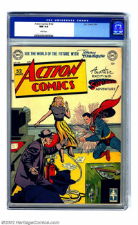 Action Comics #142 (DC, 1950) CGC NM 9.4 White pages. This stunning copy is from the private collection of the famous DC...