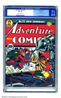 Golden Age (1938-1955):Superhero, Adventure Comics #72 Rockford pedigree (DC, 1942) CGC VF+ 8.5 Cream to off-white pages. Jack Kirby pops up at DC for the ver...