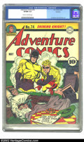Golden Age (1938-1955):Superhero, Adventure Comics #74 Rockford pedigree (DC, 1942) CGC VF/NM 9.0 Cream to off-white pages. It's clearly Simon and Kirby, and ...