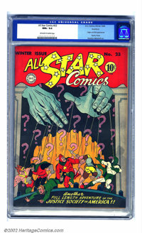All Star Comics #23 Rockford pedigree (DC, 1944) CGC NM+ 9.6 Off-white to white pages. Joe Gallagher is to thank for thi...