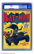 Golden Age (1938-1955):Superhero, Batman #12 (DC, 1942) CGC FN/VF 7.0 Off-white pages. Jerry Robinson gives us a feel-good patriotic cover on this early issue...