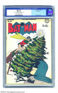 Golden Age (1938-1955):Superhero, Batman #33 Triple Cover (DC, 1946) CGC NM- 9.2 Cream to off-white pages. Like the gorgeous Dick Sprang Christmas cover? Extr...