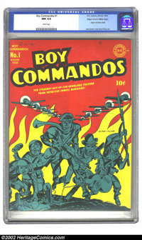Boy Commandos #1 Mile High pedigree (DC, 1942) CGC NM 9.4 White pages. One of Simon and Kirby's most famous creations, t...