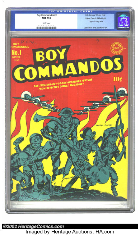 Boy Commandos #1 Mile High pedigree (DC, 1942) CGC NM 9.4 White pages. One of Simon and Kirby's most famous creations, this ...
