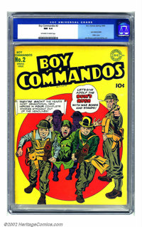 Boy Commandos #2 (DC, 1943) CGC NM 9.4 Off-white to white pages. This is one incredible copy of a classic Simon and Kirb...