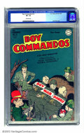 Golden Age (1938-1955):War, Boy Commandos #13 (DC, 1945) CGC VF- 7.5 Off-white pages. One ofJack Kirby's more famous legacies, among his many creations...