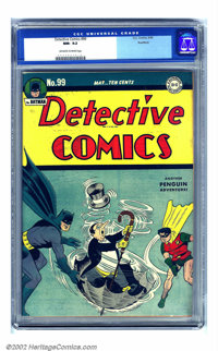 Detective Comics #99 Rockford pedigree (DC, 1945) CGC NM- 9.2 Off-white to white pages. The Penguin makes a very early c...