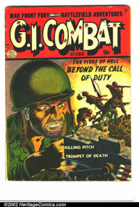 G.I. Combat #1 (Quality, 1952) Condition: GD/VG. Reed Crandall did an outstanding job on the cover of this important sem...