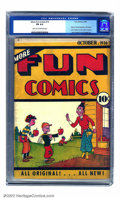 Golden Age (1938-1955):Humor, More Fun Comics #14 (DC, 1936) CGC FN 6.0 Light tan to off-white pages. Notable for the title's first appearance of Dr. Occu...