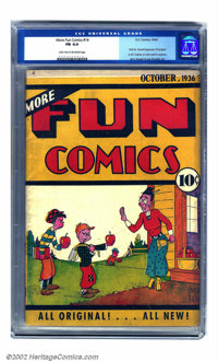 More Fun Comics #14 (DC, 1936) CGC FN 6.0 Light tan to off-white pages. Notable for the title's first appearance of Dr...