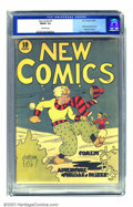New Comics #1 (DC, 1935) CGC FN/VF 7.0 Off-white pages. DC's second comic book title evolved first into New Adventure Co...