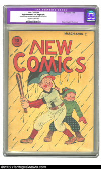 New Comics #4 (DC, 1936) CGC Apparent FN 6.0 Slight (P) Off-white to white pages. One of the first comic book titles, an...
