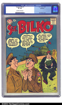 Sgt. Bilko #1 Bethlehem pedigree (DC, 1957) CGC VF 8.0 Off-white to white pages. A great Bob Oskner cover fronts the pre...