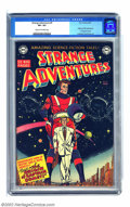 Golden Age (1938-1955):Science Fiction, Strange Adventures #9 (DC, 1951) CGC VF+ 8.5 Cream to off-whitepages. Overstreet doesn't identify the cover artist, but The...