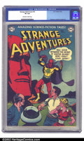 Golden Age (1938-1955):Science Fiction, Strange Adventures #16 (DC, 1952) CGC VF 8.0 Off-white to whitepages. Cover artist Gil Kane was the Man at DC in the early ...