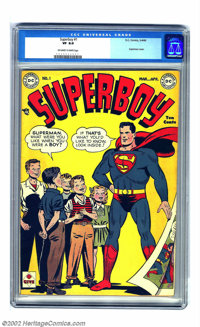 Superboy #1 (DC, 1949) CGC VF 8.0 Off-white to white pages. It took four years from the first appearance of the Boy of S...