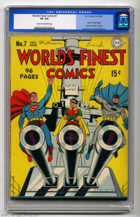 World's Finest Comics #7 (DC, 1942) CGC VF 8.0 Cream to off-white pages. Hmm, I wonder what Freud would have thought abo...