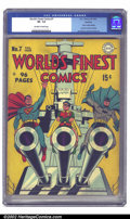 Golden Age (1938-1955):Superhero, World's Finest Comics #7 Rockford pedigree (DC, 1942) CGC VF- 7.5 Off-white to white pages. DC Golden Age artist deluxe, Jac...
