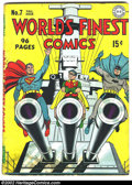 Golden Age (1938-1955):Superhero, World's Finest Comics #7 (DC, 1942) Condition: Apparent FR. Here is one of the most classic of all covers from the Golden Ag...