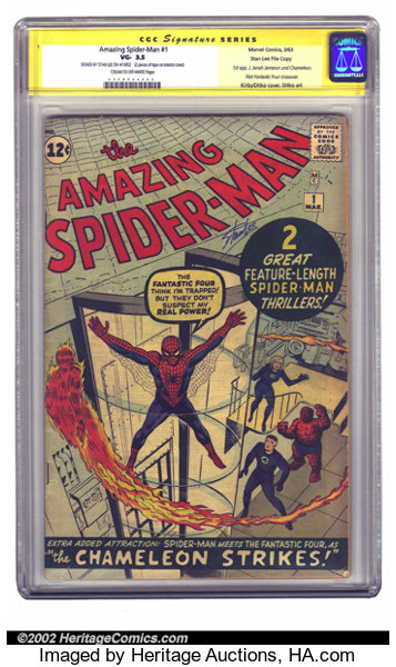 The Amazing Spider Man 1 Stan Lee File Copy Marvel 1963 Cgc Lot 7989 Heritage Auctions