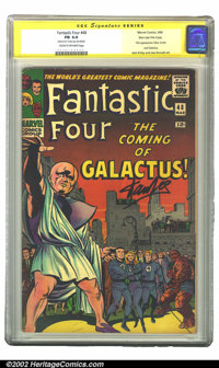 Fantastic Four #48 Stan Lee File Copy (Marvel, 1966) CGC FN 6.0 Cream to off-white pages. Signature Series. One of the m...