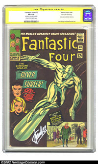 Fantastic Four #50 Stan Lee File Copy (Marvel, 1966) CGC FN 6.0 Cream to off-white pages. Signature Series. This classic...