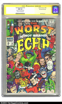 Not Brand Echh #10 Stan Lee File Copy (Marvel, 1968) CGC NM 9.4 Cream to off-white pages. Would it be possible to insert...
