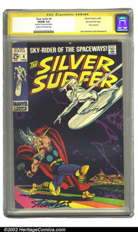 The Silver Surfer #4 Stan Lee File Copy (Marvel, 1969) CGC VG/FN 5.0 Cream to off-white pages. Signature Series. One of...