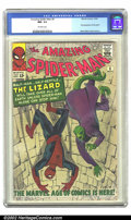 Silver Age (1956-1969):Superhero, The Amazing Spider-Man #6 (Marvel, 1963) CGC NM- 9.2 Off-whitepages. This beautiful copy features the first appearance of o...