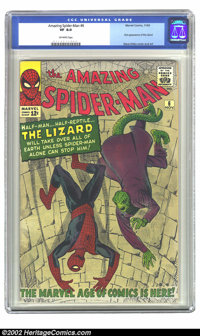 The Amazing Spider-Man #6 (Marvel, 1963) CGC VF 8.0 Off-white pages. Notoriously difficult to find in nice shape due to...