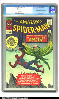The Amazing Spider-Man #7 (Marvel, 1963) CGC NM 9.4 White pages. The Vulture returns in this first monthly issue of Amaz...