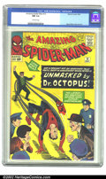 Silver Age (1956-1969):Superhero, The Amazing Spider-Man #12 (Marvel, 1964) CGC NM 9.4 Off-white pages. Bright canary yellows and fire engine reds make this i...