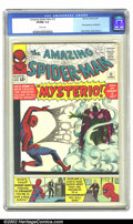 Silver Age (1956-1969):Superhero, The Amazing Spider-Man #13 (Marvel, 1964) CGC VF/NM 9.0 White pages. This excellent copy features the first appearance of My...