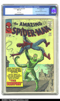 "Silver Age (1956-1969):Superhero, The Amazing Spider-Man #20 Circle 8 pedigree (Marvel, 1965) CGC NM9.4 Off-white pages. ""How can Spidey battle a foe stronge..."