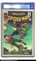 Silver Age (1956-1969):Superhero, The Amazing Spider-Man #39 (Marvel, 1966) CGC NM+ 9.6 Off-white towhite pages. Out of all the copies that CGC has graded of...