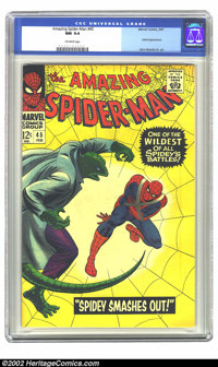 The Amazing Spider-Man #45 (Marvel, 1967) CGC NM 9.4 Off-white pages. This outstanding example of The Amazing Spider-Man...