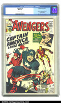 Silver Age (1956-1969):Superhero, The Avengers #4 (Marvel, 1964) CGC NM- 9.2 Off-white pages. This is undeniably one of the most important issues of the Silve...