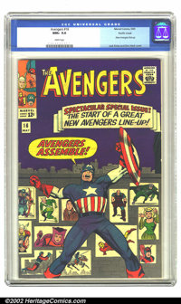 The Avengers #16 Pacific Coast pedigree (Marvel, 1965) CGC NM+ 9.6 White pages. Avengers Assemble! This issue begins the...