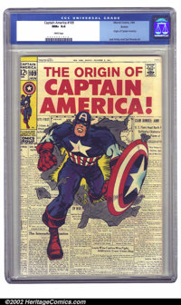 """Captain America #109 Boston pedigree (Marvel, 1969) CGC NM+ 9.6 White pages. This issue features the classic """"newsp..."""