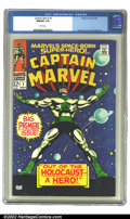 Bronze Age (1970-1979):Superhero, Captain Marvel #1 (Marvel, 1968) CGC NM/MT 9.8 White pages. Youmost definitely do not see books in this condition up for sa...