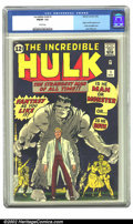 Silver Age (1956-1969):Superhero, The Incredible Hulk #1 (Marvel, 1962) CGC FN/VF 7.0 White pages. Would Marvel have had such an instant impact upon the comic...