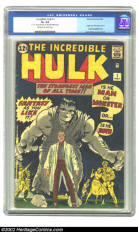 The Incredible Hulk #1 (Marvel, 1962) CGC GD+ 2.5 Off-white to white pages. This copy looks much better than the CGC-ass...