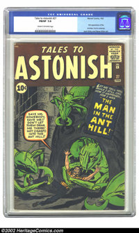 Tales to Astonish #27 (Marvel, 1962) CGC FN/VF 7.0 Cream to off-white pages. Let me tell you, while I still can, how it...