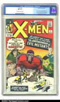 Silver Age (1956-1969):Superhero, X-Men #4 (Marvel, 1964) CGC NM 9.4 Off-white to white pages. Only one comic has been CGC-graded higher than this exquisite c...