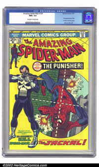 The Amazing Spider-Man #129 (Marvel, 1974) CGC NM+ 9.6 Off-white to white pages. One of the Bronze Age Spidey biggies, t...