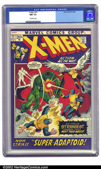X-Men #77 (Marvel, 1972) CGC NM 9.4 Off-white pages. George Tuska cover. Bright, vivid color owing in no small part to t...
