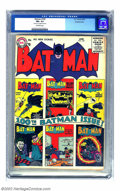 Silver Age (1956-1969):Superhero, Batman #100 Double cover (DC, 1956) CGC FN+ 6.5 Off-white pages. One of the most sought-after issues of the title, as eviden...
